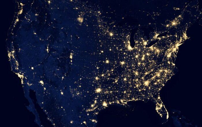 Conexiones mundo vista satélite